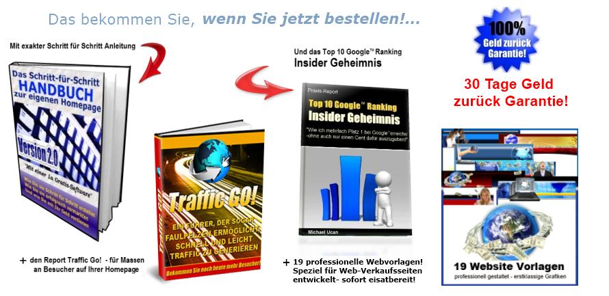 Homepage erstellen Anleitung - Plus Boni